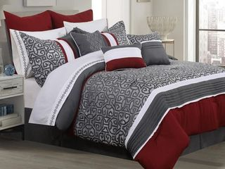 Comforter 7 Piece Set Sumatra Full Charcoal Retail 91 99