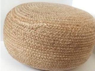 Jaipur living warm sand pouf 18x18x12
