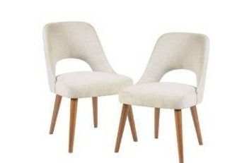 No legs  Set of 2 Nola Dining Side Chair Cream