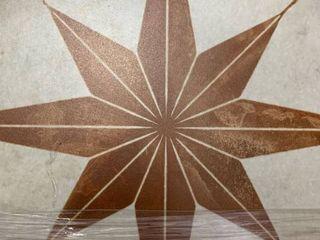3 tiles  SomerTile 17 625x17 625 inch Royals Estrella Oxide Ceramic Floor and Wall Tile
