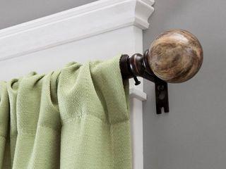 Kenney Marble Ball 3 4  Standard Decorative Curtain Rod