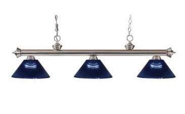 Set of 3 Avery Home lighting Riviera Billiard Blue lampshades