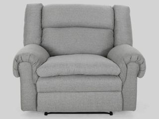 Gray   Black  Farman Oversized Fabric Recliner by Christopher Knight Home Retail 472 49