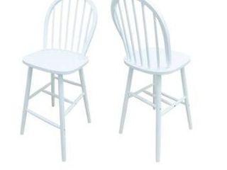 white Tilbury spindle bar stools  set of 2