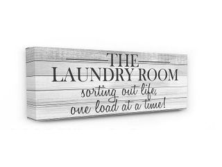 13 x 30  Stupell Industries laundry Room Funny Word Bathroom Black and White Design 10x24  Proudly Made in USA   Multi Color