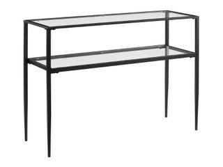 Ashton Console Table Matte Black   Crosley