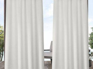 ATI Home Indoor Outdoor Solid Cabana Grommet Top Curtain Panel Pair Retail 83 49