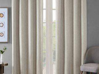 1 pair  SunSmart Arlie Printed Heathered Blackout Single Window Curtain Panel