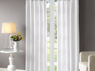 1 panel  95 x50  lillian Twisted Tab lined light Filtering Curtain Panel White