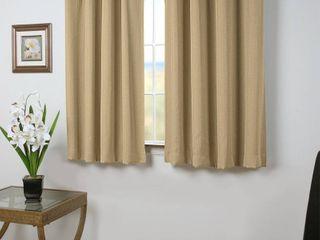 Grand Pointe Short Single Beige Curtain Panel