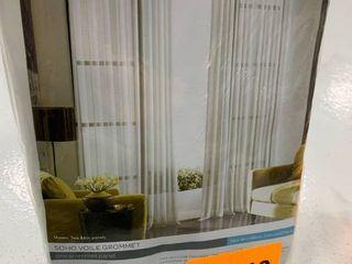 Curtainworks Soho Voile Solid Sheer Grommet Single Curtain Panel