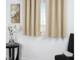 Ultimate Blackout 45 inch Short length Single Grommet Curtain Panel