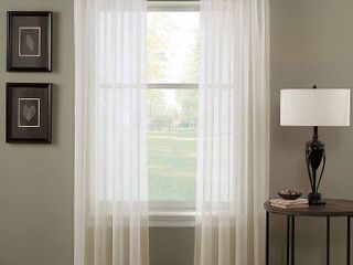 Trinity Crinkle Voile Extrawide Sheer Single Curtain Panel