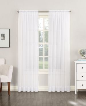 No  918 Emily Sheer Voile Single Curtain Panel