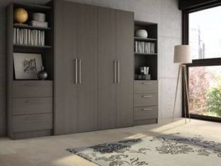 Stellar Home Furniture Full Contemporary laminate Wall Bed  incomplete looks like doors with handles