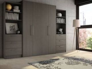 Stellar Home Furniture Full Contemporary laminate Wall Bed  incomplete looks like side pieces for bookcase