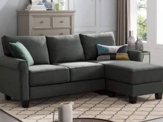 Reversible Sectional Sofa Couch l Shape 3 seat Sofa Couch for Small Apartment  incomplete looks like the chaise part of couch