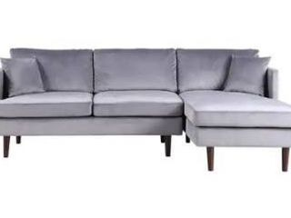 Mid century modern microfiber sectional  Box 2 of 2  chaise lounge part
