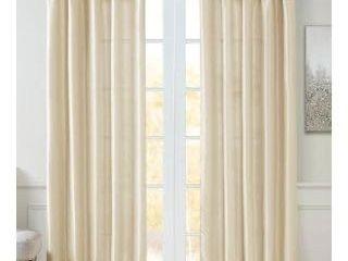 1 panel  Madison Park Emilia Twisted Tab lined Single Curtain Panel  50 W X 84 l