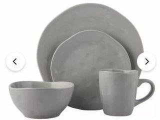 Melange Stoneware 32 piece irregular shape