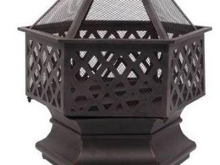 22a Outdoor Hexagonal shaped iron firepit