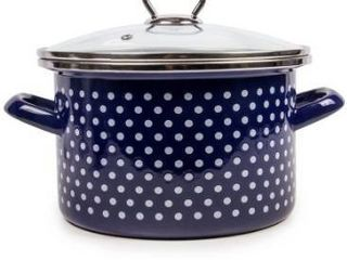 Stp goods blue polka dot enamel on steel
