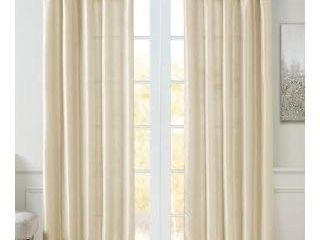 1 panel  appears pre owned  Madison Park Emilia Twisted Tab lined Single Curtain Panel  50 W X 84 l