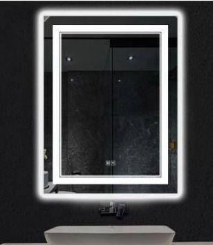 Smart backlit lED illuminated fog free mirror