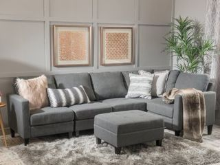 Zahra Fabric Sofa by Christopher Knight  SECTION ONlY