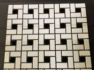 Glazed Mosaic Tiles Spiral Pattern  20 sheets