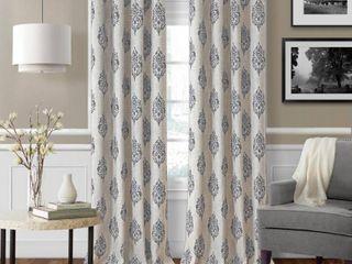 Navara Medallion Print linen Blackout Curtain Panels