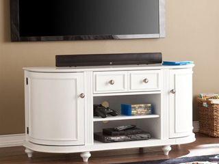 Southern Enterprises Dandridge 48 5in TV Stand in White