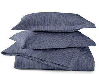 Dormisette luxury Flannel 3 piece Cotton Duvet Cover Set   Queen Retail 129 66