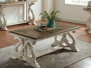 Dark Oak Furniture of America Hinz Transitional Solid Wood Coffee Table Retail  399 49