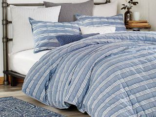 Peri Home Puckered Stripe King Sham Bedding