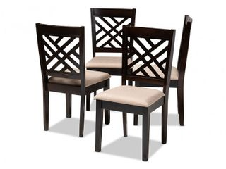 Caron Modern and Contemporary Upholstered 4 Piece Dining Chair Set Retail 213 49