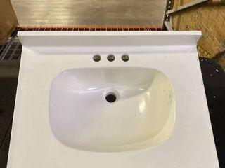 White Vanity Top