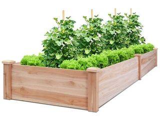 Ainfox Wood Raised Garden Bed Planter Box Retail 87 49