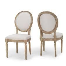 phinnaeus fabric dining chairs set of 2 griege