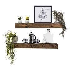 artisan haute floating shelves set of 2 expresso