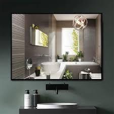 neutypechic Modern Thin Frame Wall Mounted Hanging Bathroom Vanity Mirror   Retail 144 99