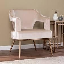 Silver Orchid Ellisten Contemporary Beige Fabric Accent Chair  Retail 324 99 beige and champagne