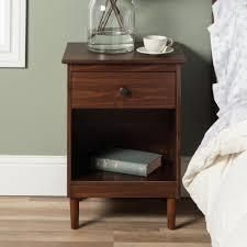taylo and Olive bullrushes 1 drawer solid wood nightstand walnut Retail 88 49