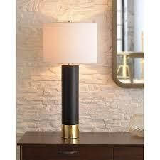 binx 30 inch table lamp Matte Black and Polished Brass  Retail 109 99
