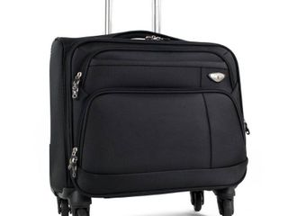 American Green Travel Carry On 17 inch laptop Spinner Briefcase  Retail 94 49 black