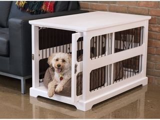 White Slide Aside Crate   Kennel End Table Retail  191 99
