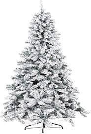 suncrown premium artificial snow flocked christmas tree 7 Foot   Green White  Retail 129 99