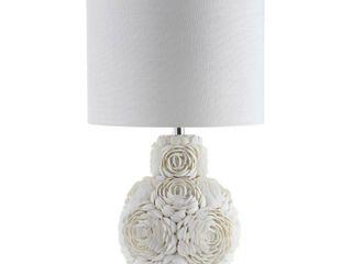 White Seashell Rosette 24 lED Table lamp  Cream by JONATHAN Y Retail  87 49