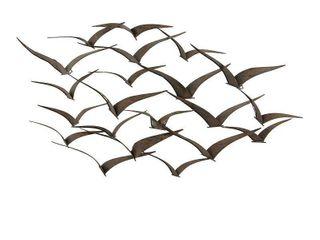 Modern 26 x 47 Inch Iron Flying Birds Wall Decor by Studio 350  Retail 87 99