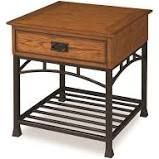 Wood and Metal End Tables Modern   Contemporary Rectangle Brown Bronze Finish Retail  159 99